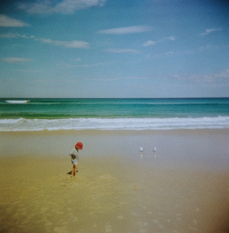Holga at the beach, perfect plastic lens conditions