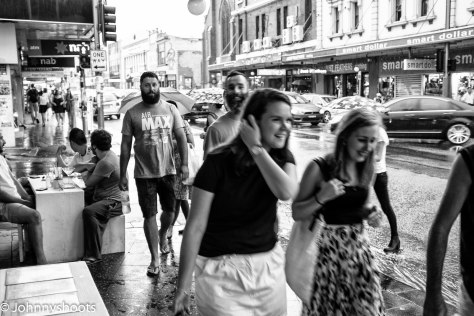 Selective focus on the X100T, works really well to pick out people in the crowd