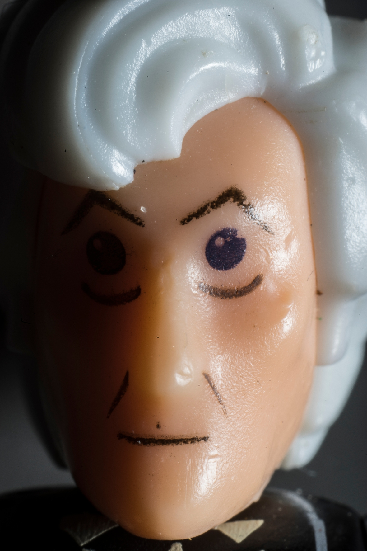 Portrait of a tiny Dr Who figure