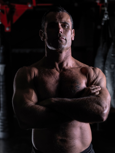 The Trainer- Matt Spooner. Great guy and if you want to get fit, he is your man.